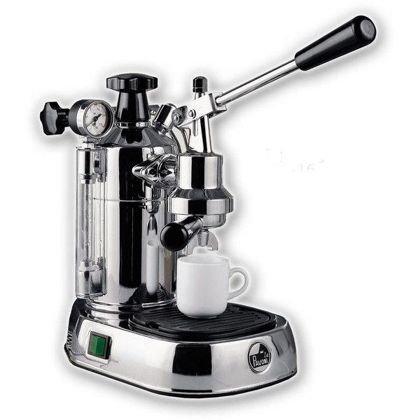 La Pavoni Europiccola Espresso Machine, 8C ($859) ❤ liked on Polyvore featuring home, kitchen & dining, small appliances, cappuccino maker, cappuccino machine, espresso cappuccino machine, italian espresso maker and italian espresso machine
