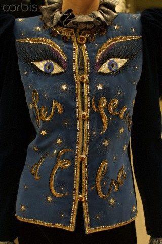 1980 - YSL Couture show - les Yeux dElsa jacket