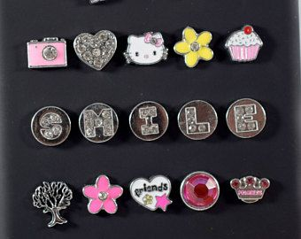 $14.99+ | Silver Letter Charms, Personalized Letter Charms, Alphabet Charms, Crystal Letters | Phone Jewelry Charms, Picture Frame Charms