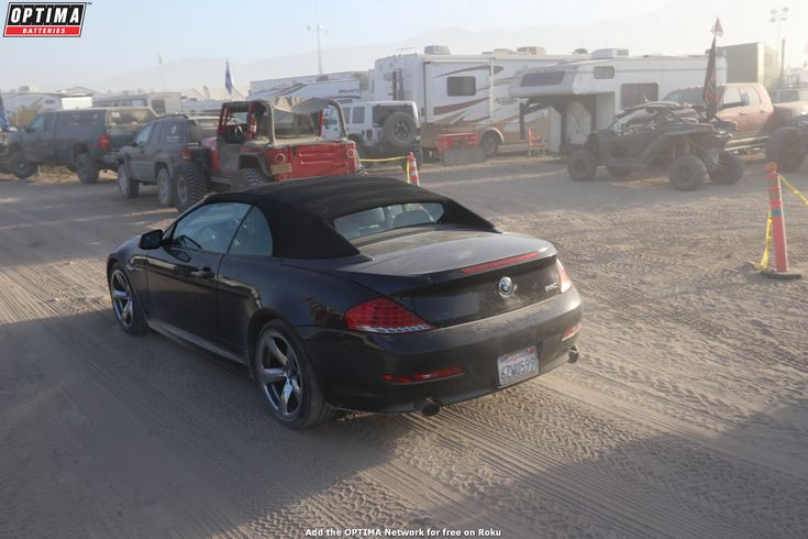 A 6-series #BMW about as far out of it's element as it could possibly get, driving through #Hammertown at the 2018 #KingoftheHammers off-road race