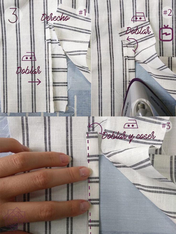 Cómo coser un puño con portañuela