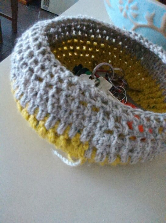 This summer I had an addition.....crochet bowls. I no longer know what im making for....