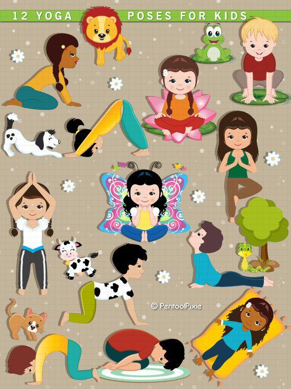 Yoga Clipart Kids Yoga Meditation Excercise Clipart Yoga Yoga For Kids Kids Yoga Poses Clip Art