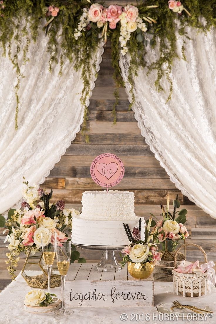 from hobby lobby dress up your cake table with gold and floral accents for an elegant vintage feel