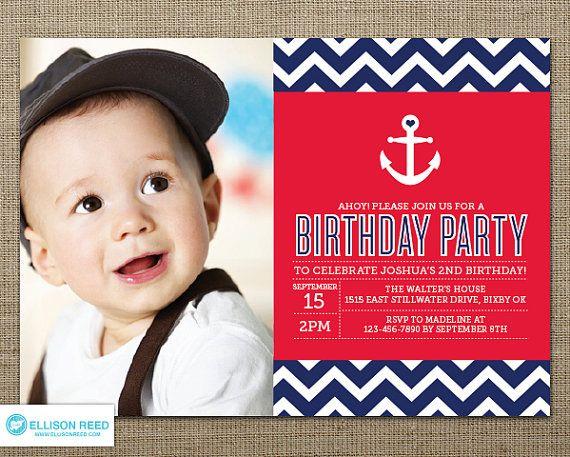 best 25+ nautical birthday invitations ideas on pinterest, Birthday invitations
