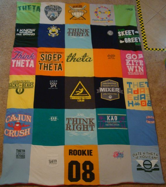 how to make a blanket out of t shirts