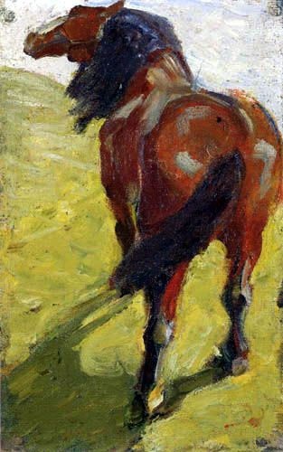 Franz Marc. With the outbreak of war in 1914, the Blue Rider was forcibly dissolved. Kandinsky, a Russian national, was repatriated to Russia for the duration, as were other Russian group members. Both Franz Marc and August Macke enlisted and died in battle. (