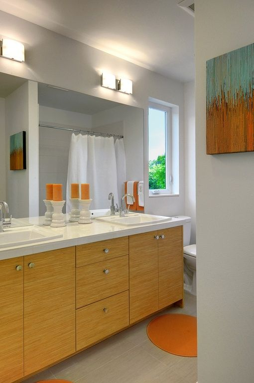 full bathroom with caesarstone frosty carrina flush european cabinets double sink