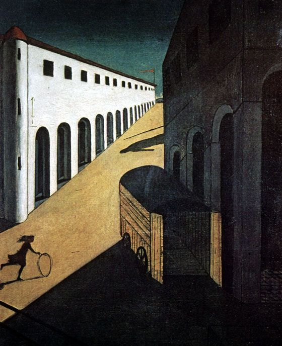 Melancholy and Mystery of a Street. 1914. Giorgio de Chirico. The Metaphysical School.