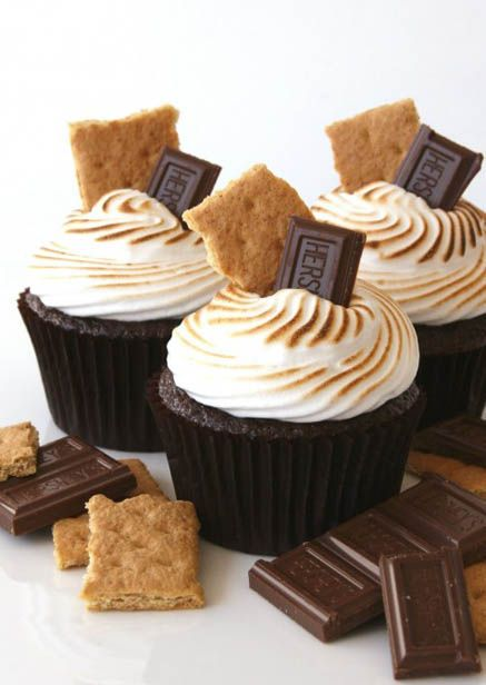 Chocolate S'mores Cupcakes by Glorious Treats