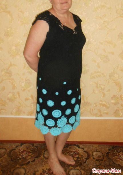 Платье крючком мамочке на юбилей