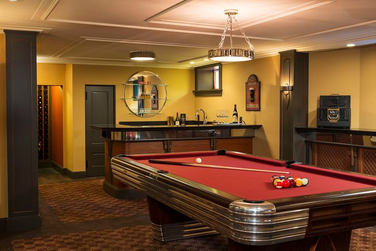 Pool Tables For Sale Nj Basement Traditional with basement bar