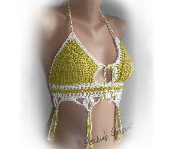 Hecho a la medida algodón Crochet Halter parte superior su