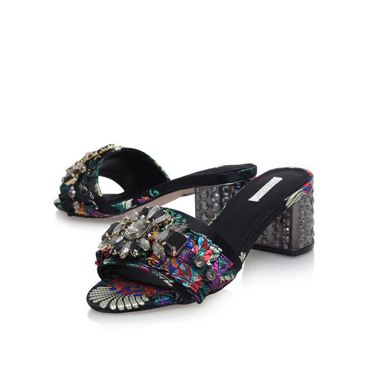 Kascade Multi-coloured Mid Heel Sandals By Carvela Kurt Geiger | Kurt Geiger