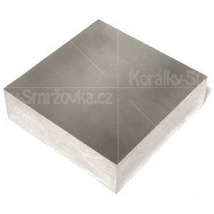 Kovadlina blok - malá pracovní - stříbřená - 1ks - 60 x 60mm -