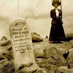 Nel 1876 il soldato John O'Keefe, addetto alla stazione di segnalazione di Pike's Peak, raccontò alcune storie all'amico di bevute Eliphat Price, giornalista e avvocato. Una storia parlava di grandi ratti antropofagi che abitavano nelle grotte di Pike's Peak. Raccontò di come questi ratti avessero attaccato lui, sua moglie e sua figlia nella stazione, divorando un quarto di manzo in cinque minuti. Mentre il signor O'Keefe cercava di proteggere la famiglia usando un bastone per tenere a bada…