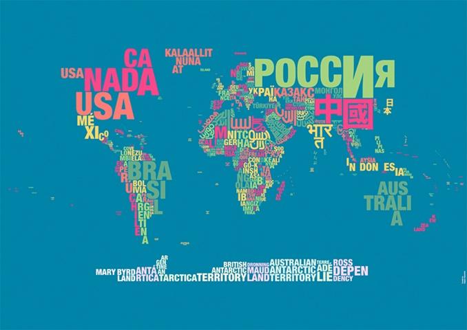 Mejores 50 imgenes de design en pinterest carpintera ciudades y map with native names to countries gumiabroncs Image collections