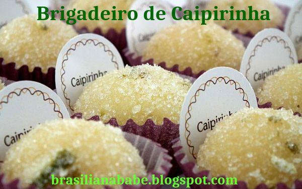 Receita: Brigadeiro de Caipirinha
