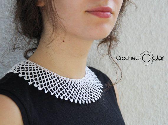 Justice Ruth B Ginsburg White Crochet Collar by CrochetCollars