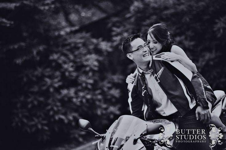 Engagement Photoshoot - Kim & Jackie - Motorbikes rock! :D