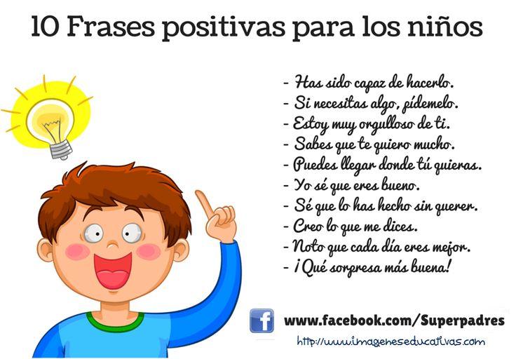 10 Frases positivas para niños