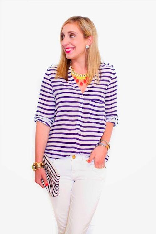 stripes + bling