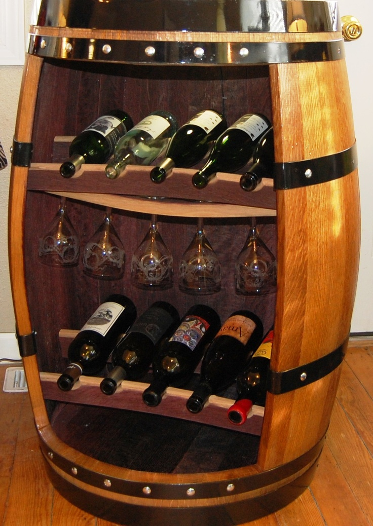 Delightful Wine Barrel Cabinet.