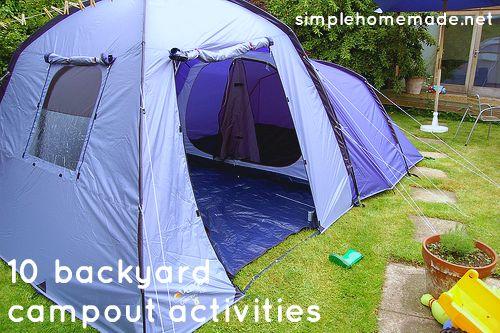 Ten backyard campout activities