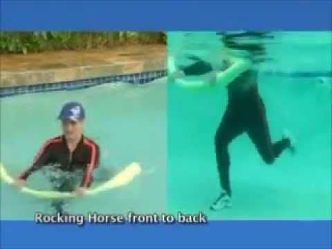 Shallow Water Core Conditioning Exercises With Noodle From Aqua Aerobics Unlimited