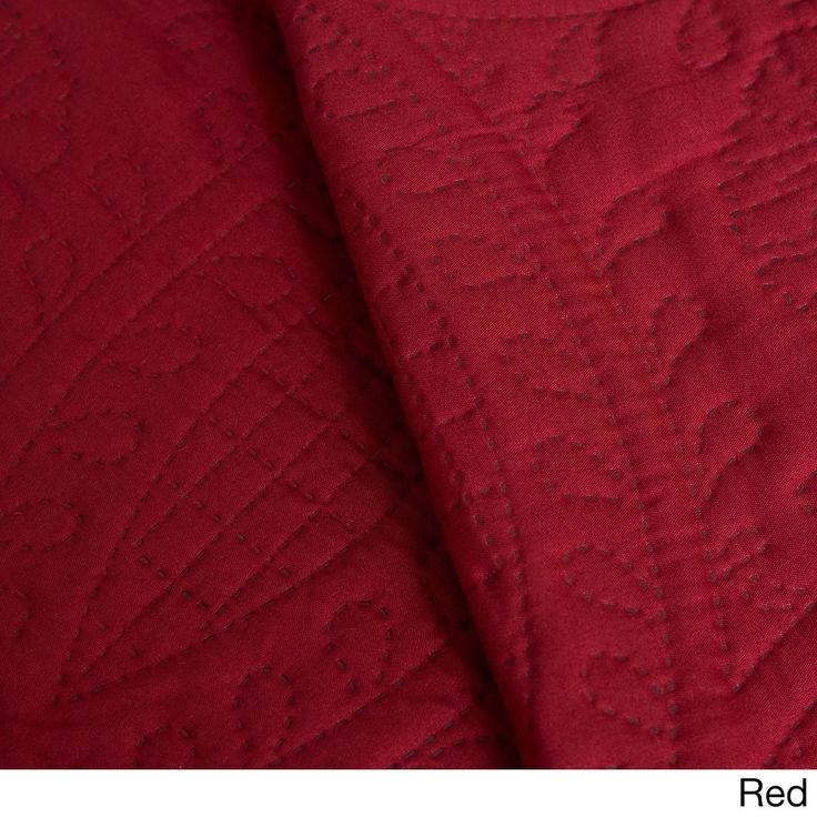 2 Piece Red Burgundy Twin Quilt Set Stitching Pattern New Free Shipping