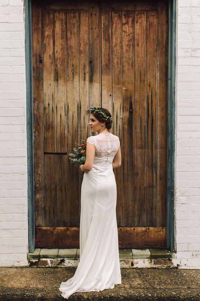 Anna wearing our customised Pippa gown - Available at Bridesmaids Only