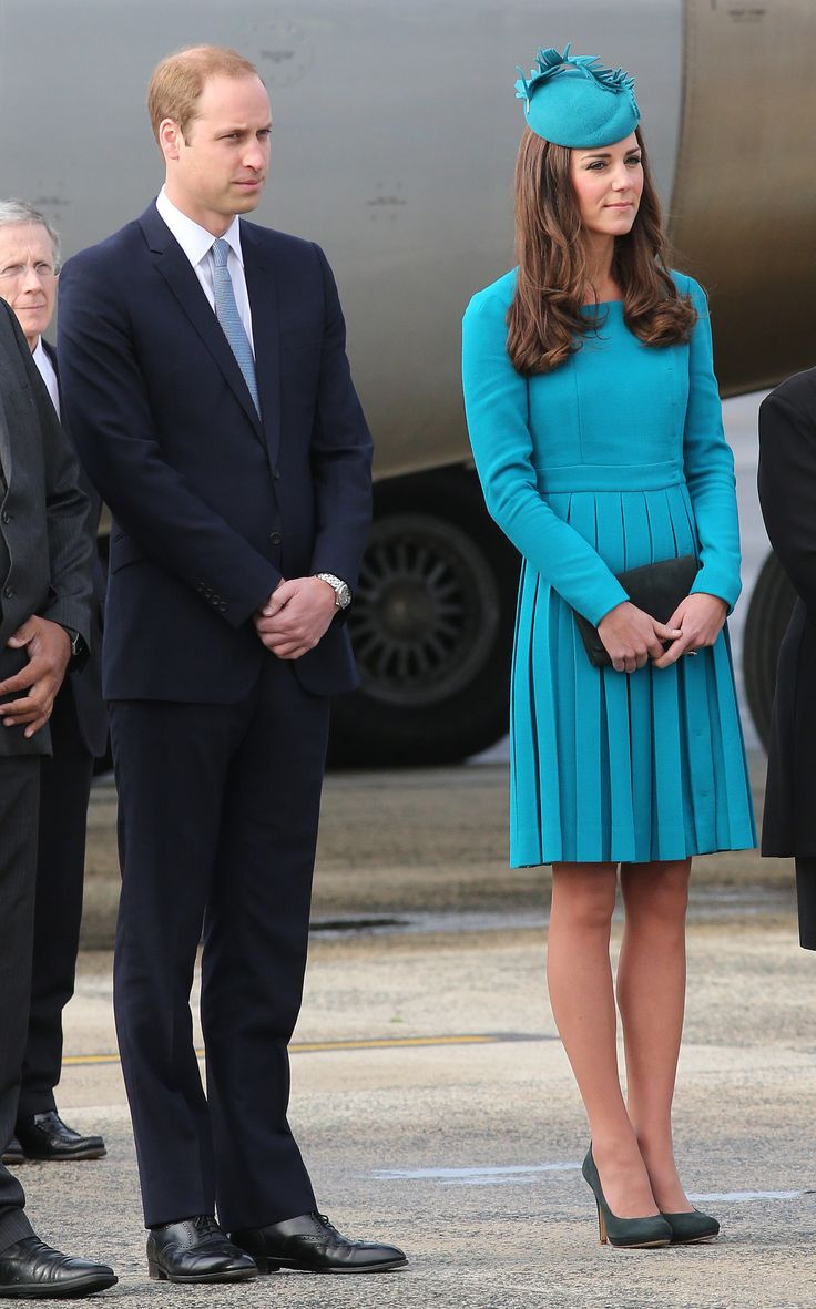 Her Teal Emilia Wickstead Dress Was Paired Flawlessly With Her Matching Hat and Fun Heels