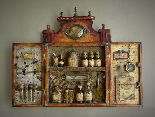 Apothecary, save idea for future. Can I make one from an old dartboard cabinet?