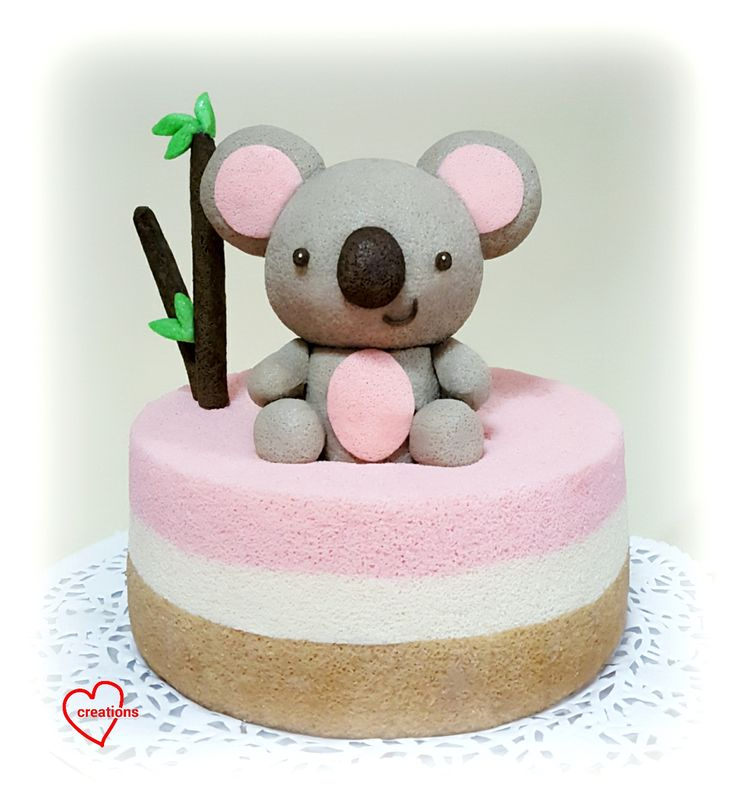 Loving Creations for You: Koala Bear Neopolitan Chiffon Cake