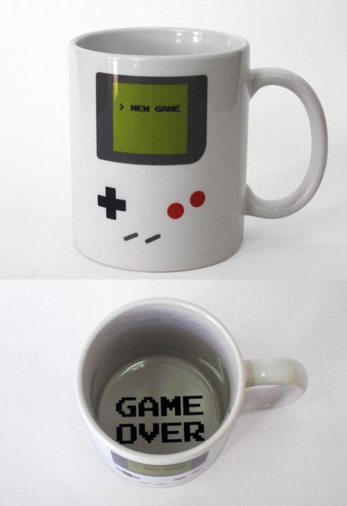 Game over mugGeek, Stuff, Coffe Cups, Videos Games, Games Boys, Coffee Cups, Things, Gameboy, Coffee Mugs