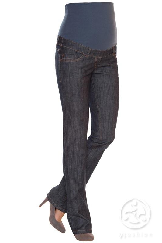 Blugii Marni sunt blugi pentru gravide extrem de comozi si usor de purtat. Au o croiala dreapta (blugi drepti) trendy, sunt confectionati dintr-un material de bumbac (97%) subtire cu banda inalta din bumbac pentru sustinerea burticii de gravida. Culoarea este neagra- gri inchis, fiind usor de asortat la orice culoare de camasa sau bluza de maternitate. Au doua buzunare in spate si doua buzunare in fata. Sunt confortabili si foarte chic pentru orice gravida.