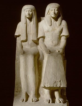 An absolute showpiece from the Egyptian collection of the Dutch National Museum of Antiquities is the statue of Maya and his wife Merit. Maya was a sort of minister of finances under the pharaohs Tutankhamun and Horemheb. He was also in charge of all the building projects in the country. In Sakkara he built a spacious tomb for himself and his wife, Merit. Want to know more about this statue? Click on the image. | Rijksmuseum van Oudheden