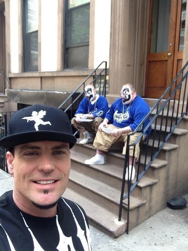 "The ""Vanilla Ice taking a selfie with Insane Clown Posse"" selfie."