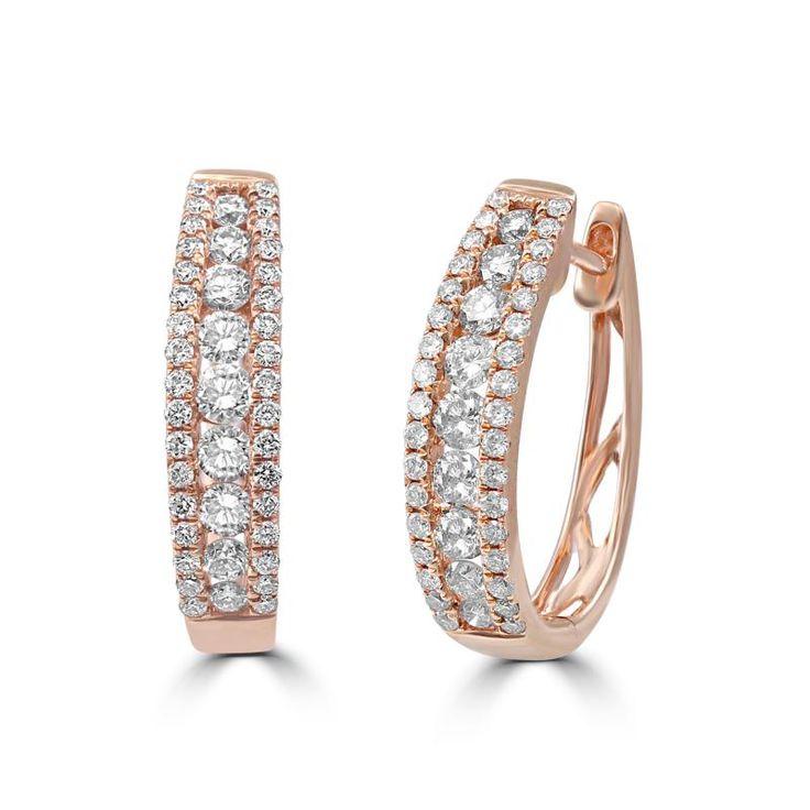 Zlaté náušnice s diamanty Seraphina