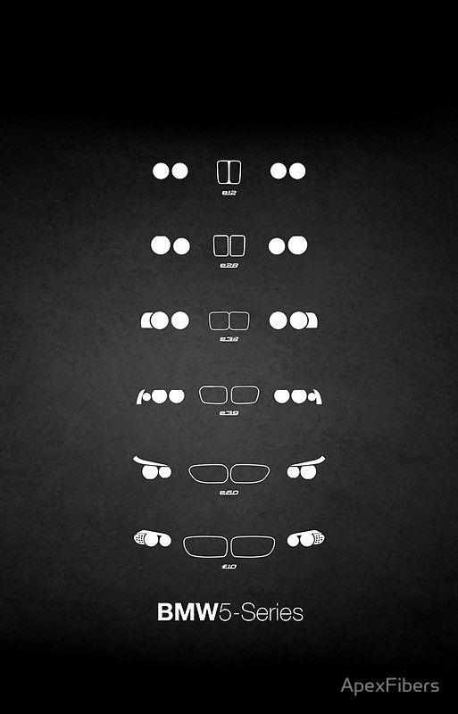 """""""5 Erbe, 1972-Present Tag (E12, E28, E34, E39, E60, F10) Grungy Vignettenhintergrund"""" iPhone Fall durch ApexFibers"""