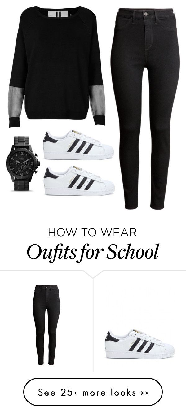 """2nd Week of School"" by rqueen25 on Polyvore featuring Topshop, H&M and adidas"