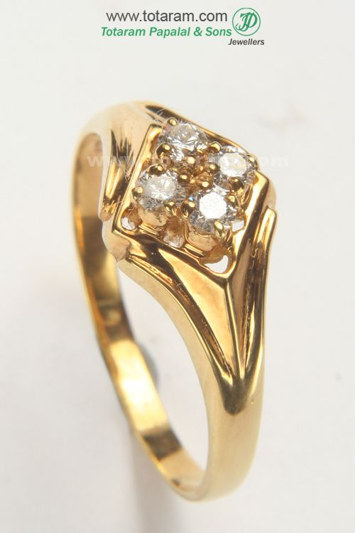 Check out the deal on Diamond Mens Ring in 18K Gold at Totaram Jewelers: Buy Indian Gold jewelry & 18K Diamond jewelry