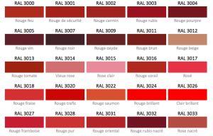 les teintes de rouge nuancier ral d co pinterest rouge. Black Bedroom Furniture Sets. Home Design Ideas