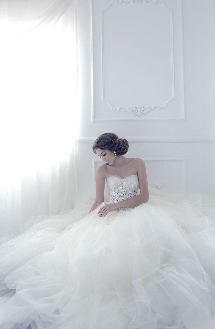 White jeweled strapless gown | Z Wedding Design