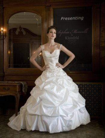 Bridal Gowns: Sophia Moncelli Princess/Ball Gown Wedding Dress with Sweetheart Neckline and Dropped Waist Waistline