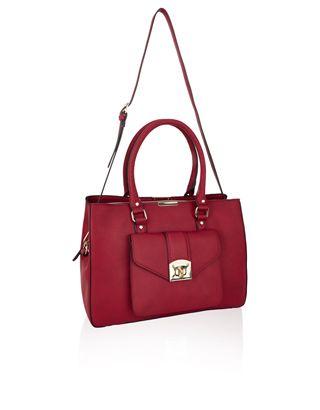 Dena Pocket Shoulder Bag | Red | Accessorize