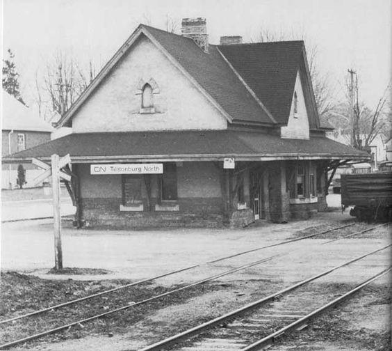 TILLSONBURG, Ontario - Canadian National Railwasy station -Pinterest