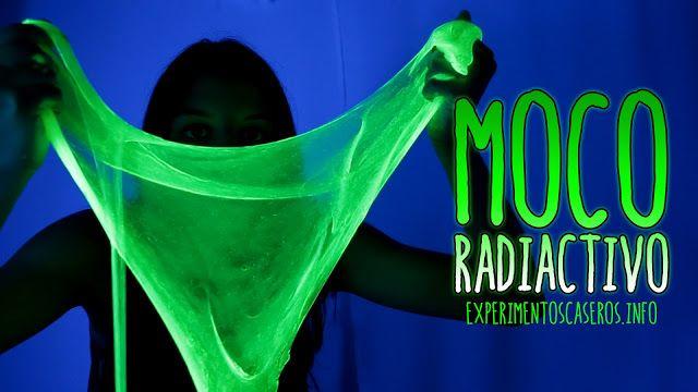 moco radiactivo, cómo hacer slime fluorescente, slime casero, cómo hacer slime, cómo hacer moco de gorila, experimentos caseros, experimentos sencillos, experimentos fáciles, experimentos para niños, experimentos de física, experimentos de química, experimentos de ciencia, ciencia, ciencia en casa