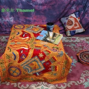 handmade tablecloth from India