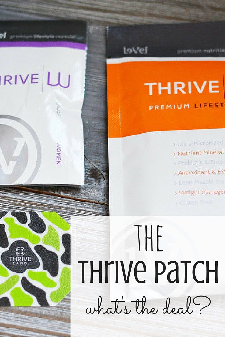 Have you been wondering what this whole thrive patch thing is about? Find out!